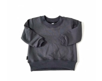 MIBABY Pullover for baby & toddler.  Minimalist fashion gender neutral bamboo french terry  all season sweatshirt.