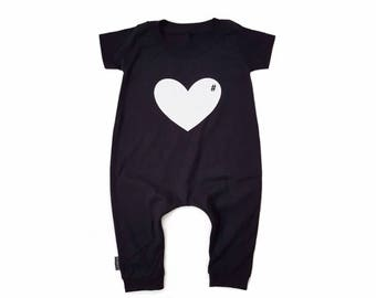 T-shirt Romper • Black • LOVE