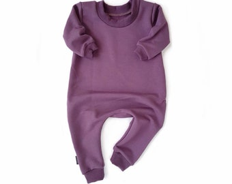 PLUM Sweatshirt Baby Romper & Toddler Romper One Piece Zipper Jumpsuit Plain Solid Colour Hipster Romper Stretch Bamboo Fleece Jumper