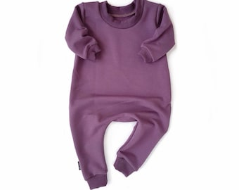 PLUM Sweatshirt Baby Romper & Toddler Romper One Piece Zipper Jumpsuit Plain Solid Colour Hipster Romper Stretch Bamboo Fleece Jumper