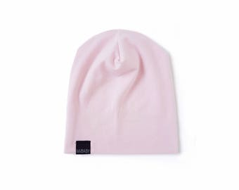Pink Beanie Hat Toddler Beanie Kids Beanie Slouchy Beanie New Born Baby Girl Slouchy Toque Baby Hat Stretch Bamboo Jersey MiBaby Boutique