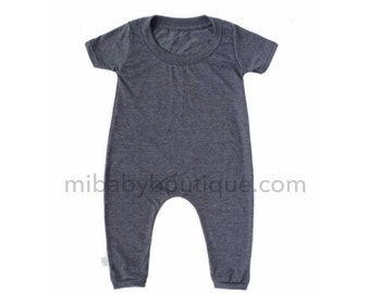 MiBaby Basics • Baby / Toddler T-shirt Romper • CHARCOAL