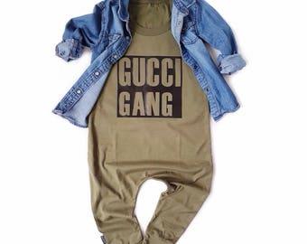 Olive Baby Romper Toddler Romper -  GUCCI GANG