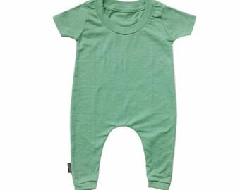 MiBaby Basics • Baby / Toddler T-shirt Romper • GREEN