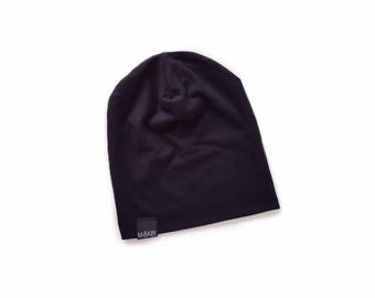 7256831d4bc BLACK Baby Beanie Toddler Beanie Slouchy Hipster Kids Toque Stretchy Baby  Hat Eco Friendly Stretch Bamboo Knit Hat Handmade Mibaby Boutique