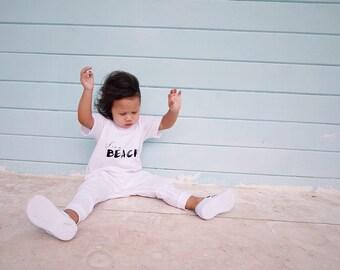 White Baby Romper Toddler Romper - LIFE'S A BEACH