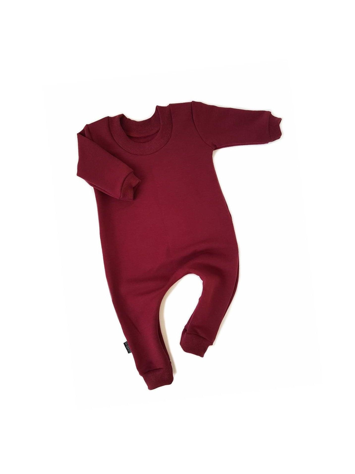 6626957912a8 WINE Sweatshirt Baby Romper   Toddler Romper One Piece Zipper ...