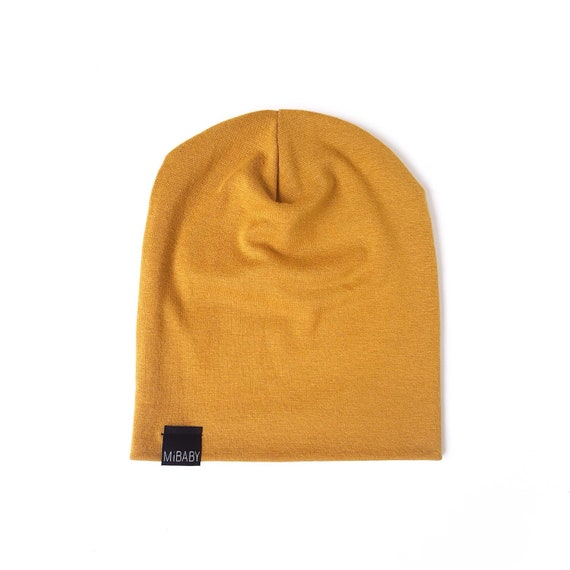 MUSTARD Yellow Gold Beanie Toddler Beanie Baby Beanie Kids  835af6ca98be