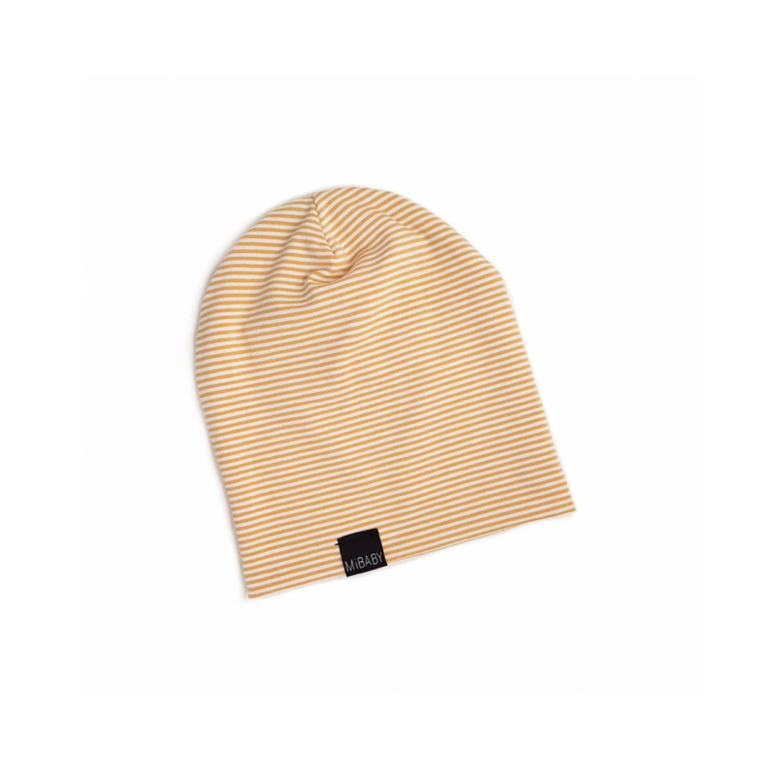 945273df57e GOLD & WHITE Striped Baby Beanie Slouchy Toddler Kids Beanie ...