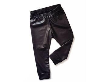 MIBABY Mini Faux Leather Leggings