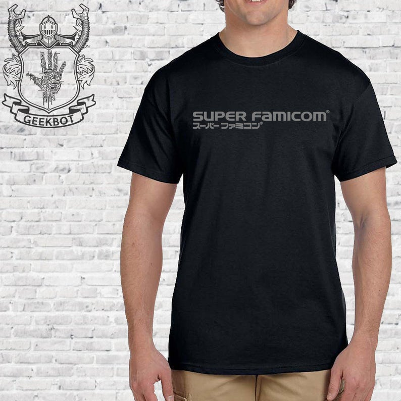Super Famicom Japanese SNES Shirt - Premium black gamer t shirt shirt  options - Screen Printed XS-5XL