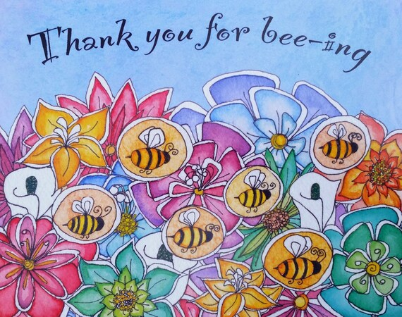 Thank You For Bee-ing 8x10 Metal Wall Art