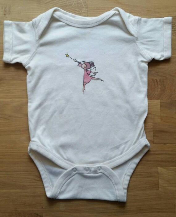 Fairy Cotton Onesie, Baby Girl Gift, Cute Infant Bodysuit, Fairy Baby Shower Gift