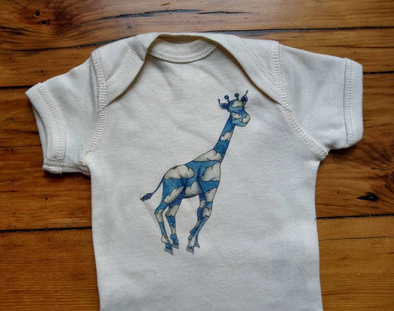 Dreamy Giraffe Cotton Onesie, Cute Baby Shirt, Jungle Themed Baby Gift, Long and Short Sleeve Options, FREE GIFTWRAP