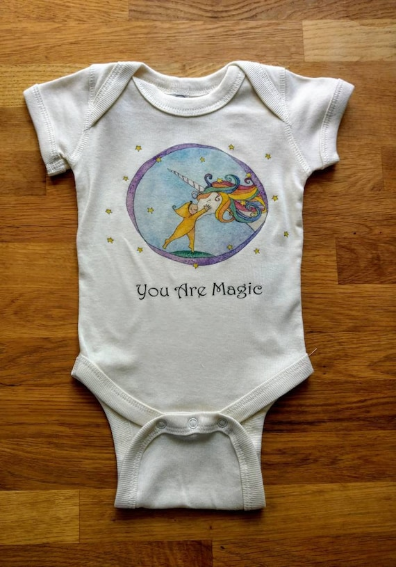You Are Magic Cotton Onesie, Unicorn Onesie, Sweet Baby Gift, Cute Infant Bodysuit