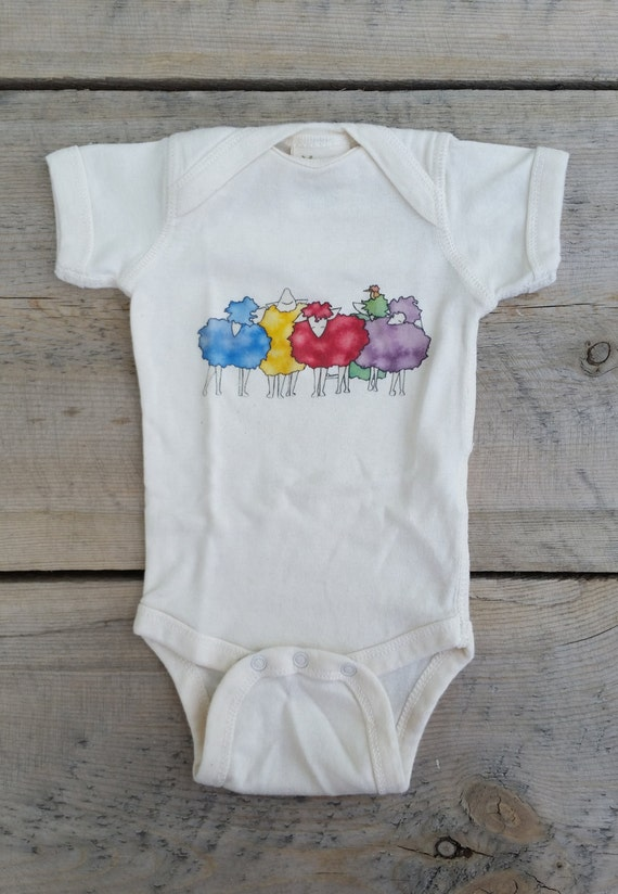 Colorful Sheep Cotton Onesie