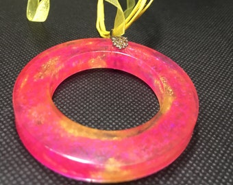 Pink Lemonade Ring Necklace