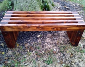 More Colors. FREE SHIPPING..Handmade Rustic Outdoor Wooden Bench.