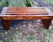 "Handmade Rustic Outdoor Indoor Wood Bench 40-48""...Outdoor Furniture, Farmhouse Bench, Patio Furniture, Entryway Bench, Memorial Bench"
