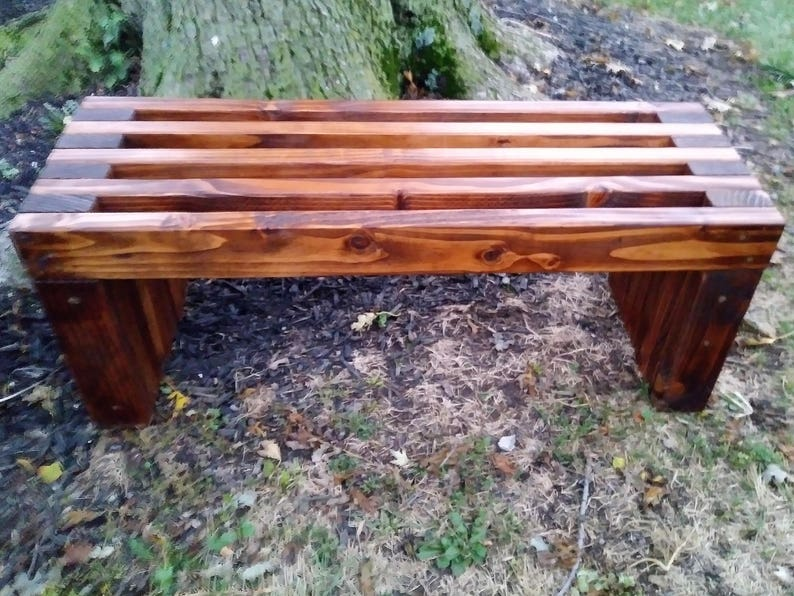 Handmade Rustic Outdoor Indoor Wood Bench Etsy
