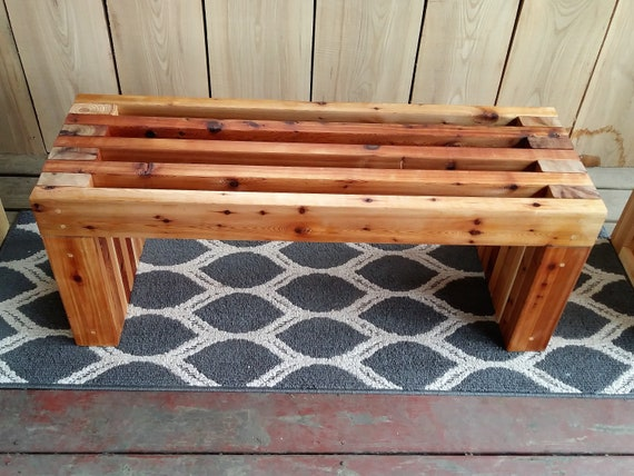 Super Handmade Rustic Outdoor Indoor Cedar Bench 32 48 Outdoor Furniture Wood Bench Patio Furniture Entryway Bench Memorial Bench Evergreenethics Interior Chair Design Evergreenethicsorg