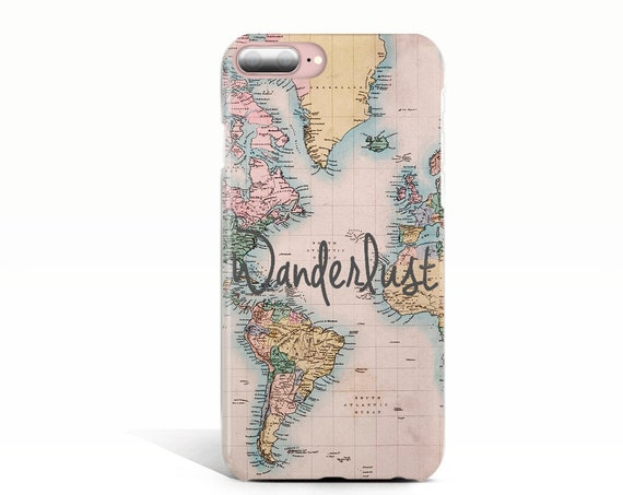 iPhone XS MAX Case Wanderlust iPhone Case iPhone 7 Plus Case Map iPhone 6 Case iPhone XR Case iPhone 8 Plus Case iPhone X Case, S8 Case