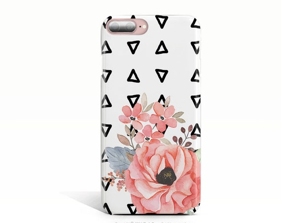 Samsung Galaxy S9 Plus Case Floral iPhone 6 Case iPhone 6s Case Geometric iPhone 7 Plus Case iPhone XS Case iPhone XS Max Case Rose iPhone