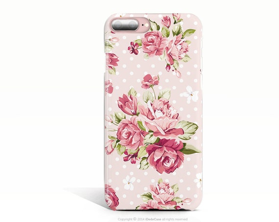 Floral iPhone 6 Case iPhone 6s Case iPhone XS Case Pink iPhone 8 Plus Case iPhone 8 Case iPhone 7 Plus Case iPhone X Case, Samsung S9 Case