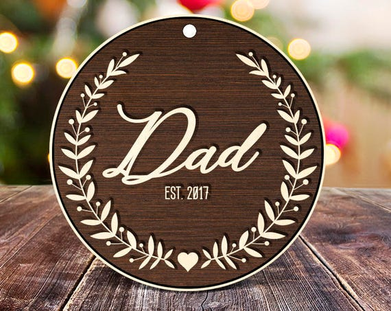 Rustic wood New Dad Ornament for Godparent New Daddy Christmas Ornament for Godmother Gift Will you be my Godfather New Parent Ornament 22