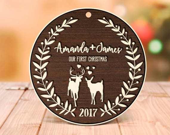 Personalized Christmas Ornaments One Year Anniversary Gift for Husband Gift for Her Anniversary Gift for Boyfriend Girlfriend Gift 28