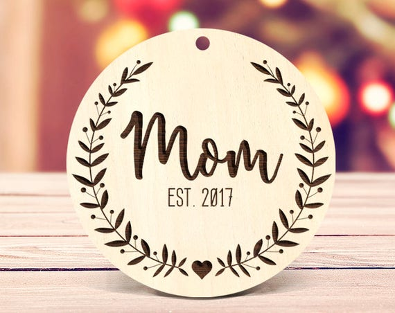 Parents Christmas gift Mom Ornament Custom Ornament New Mom Ornament Mom Christmas Gift Pregnancy Announcement Ornament Mom Xmas Ornament 67