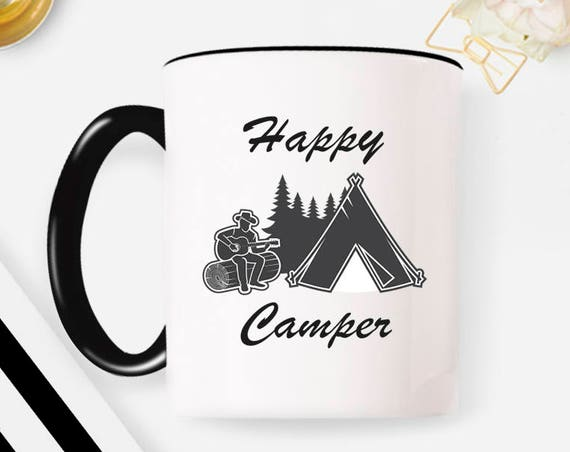 Camping Mug, Campfire Mug, Coffee, Happy Camper Mug, Adventure Awaits Mug, Coffee Mug, Happy Camper, Adventure Awaits Coffee Mug 40FM