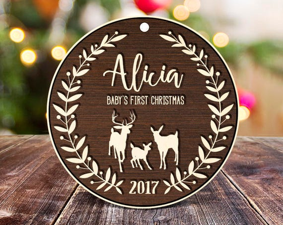 Personalized Babys First Christmas Ornament Christmas Ornament First Christmas Wood Family Ornament Christmas Ornaments for Baby Custom 20