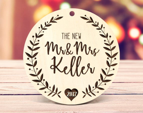 First Christmas as Mr & Mrs Ornament Our First Christmas Married Ornament Christmas Ornament Wedding Ornament Mr Mrs Christmas Ornament 81
