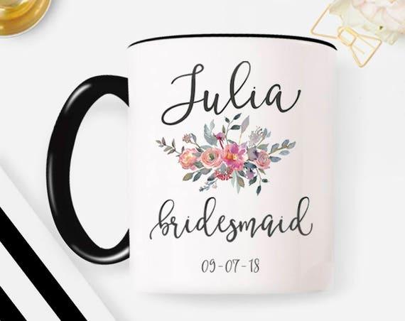 Bridesmaid Proposal, Bridesmaid Gift, Bridesmaid Mug, Bridesmaid Coffee Mug, Custom Mug, Personalized Coffee Mug 30W