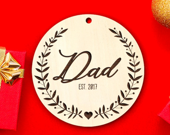 New Dad Gift New Dad Ornament Husband Gift Gifts for Husband New Daddy Gift Christmas Ornament Christmas Tree Decorations Personalized 22