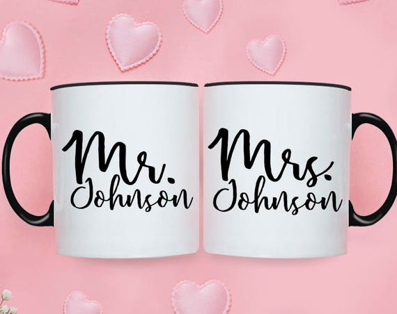 Wedding Gifts for Couple Engagement Gifts for Couple Anniversary Gift Mr Mrs Mugs Bridal Shower Gift Wedding Gifts Personalized Coffee Cup 3