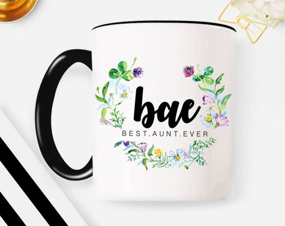 Bae Best Aunt Ever Mug Unique Aunt Gift for Aunt New Aunt Mug Coffee Mug Aunt to be Best Auntie Ever New Aunt Gift
