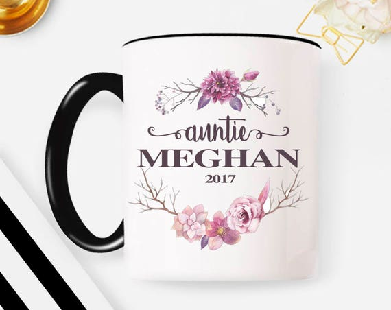 Auntie Mug | Aunt Gift | Auntie Gift | Gift for Aunt | Pregnancy Reveal | Est 2018 | New Aunt Gift | Custom Mug | Coffee Mug