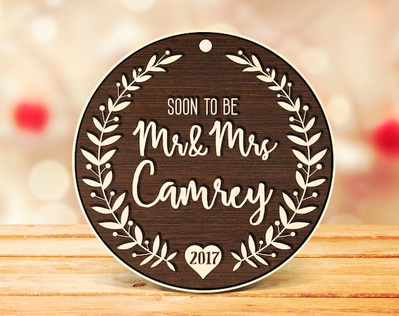 Mr Mrs Christmas Tree Ornament Gift Personalized Ornament Mr Mrs Christmas Ornament Personalized Married Ornaments Christmas Decor 33