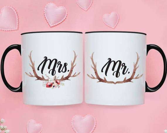 Wedding Gifts for Couple Engagement Gifts for Couple Anniversary Gift Mr Mrs Mugs Bridal Shower Gift Wedding Gifts Personalized Coffee Cup 2