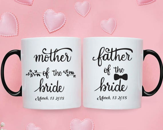 Mother of the Bride Gift Father of the Bride Gift from Bride Wedding Gift for Mom Mother of the Bride Gift from Daughter Couple Mugs 219O