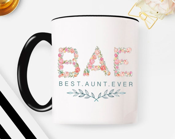 Aunt Mug floral mothers day gift best aunt ever gift for aunt