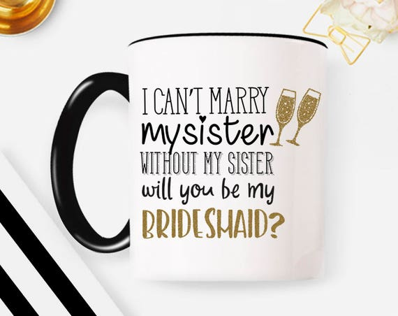 Will you be my Bridesmaid Mug Bridesmaid gift, Bridesmaid mug, Maid of Honor Mug Maid of Honor Gift Bridal Party Gifts Wedding Party Gift