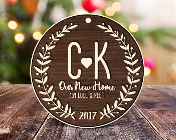 Our new home Personalized ornament Personalized Ornament Personalized Wedding Ornament Engaged Christmas Ornament housewarming gift 19