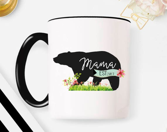 Mama Bear Mug, Mama Mug, New Mom Mug, Mom Mug Mama Mug, Mother Mug, New Mom Gift, Custom Mug, Personalized Mug, Mama Gift, Gift for Mom 43FM