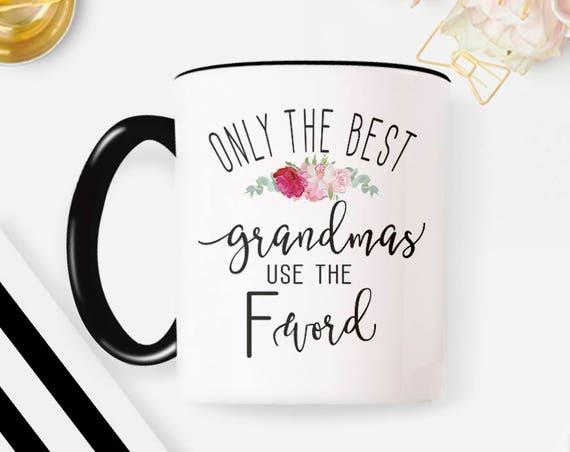 Grandma mug, gift for grandma, Mom Gift, Gifts for Mom, pregnancy announcement, mom mug, gift for mom, grandma gift, Funny F word gift 72MM