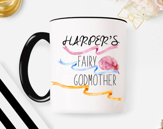 Fairy Godmother Gift Personalized Fairy Godmother Mug Godmother Gift for Godmother Stars Fairy Godmother Coffee Mug Godmother Gift Aunt 225