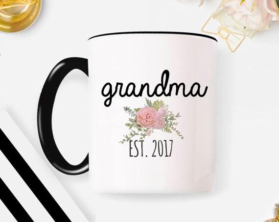 Pregnancy Announcement Grandma Mug New Grandma Gift Grandma Pregnancy Announcement Grandparents Pregnancy Reveal for Grandma Coffee Mugs 69M