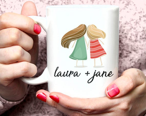 Best Friend Mug Personalized Quote Name Mugs For BFF To Be Friends Forever Funny Friendship Bestie Cute Fun Gift Mug for Sister  41MM